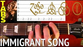 Immigrant Song - Led Zeppelin - Guitar Lesson WITH TABS