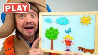 КУКУТИКИ PLAY - КУКУБОКС - Дівчинка і Собачка - Малюємо і Придумуємо Мультик з КУКУТИКАМИ Funny Kids