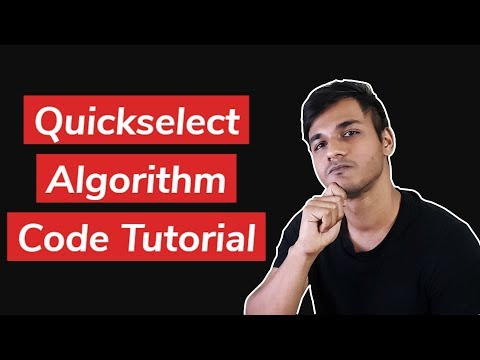 Quickselect Algorithm with Partitioning | Code Tutorial
