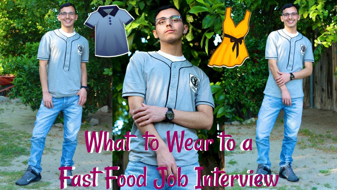 what to wear for a job interview fast food