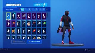 Live Fortnite with Ikonik skin