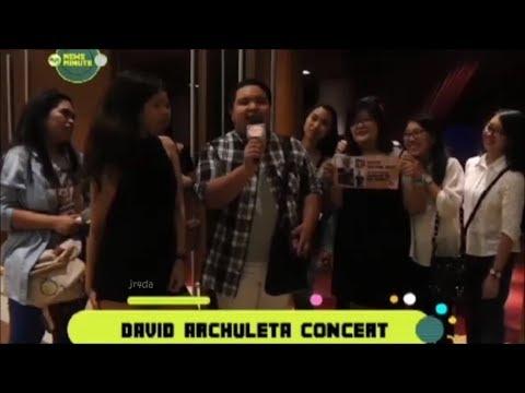 David Archuleta @ MYX-Concert-Recap & Interviews w/ Concert Goers (23 Oct 2017)