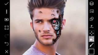 Best Photo PicsArt Editing Tutorial 2017   How to Make Terminator Face   Best PicsArt Studio Editing