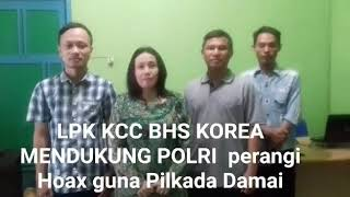Video Deklarasi Anti Hoax dari LPK KCC Bahasa Korea download MP3, 3GP, MP4, WEBM, AVI, FLV September 2018