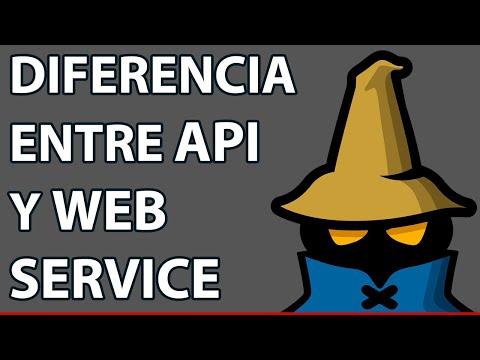 Diferencia entre API y Webservice