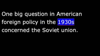 American History - Part 180 - FDR - Latin America Policy - World Foreign Policy