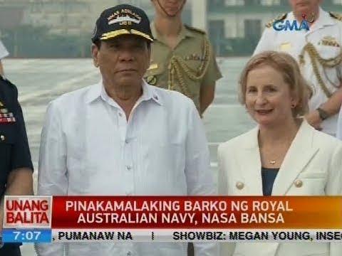 UB: Pinakamalaking barko ng Royal Australian Navy, nasa bansa