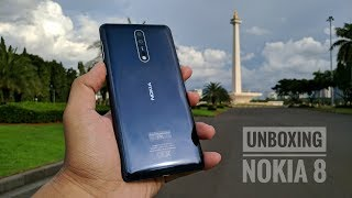Nokia 8 Biru Resmi Indonesia Unboxing