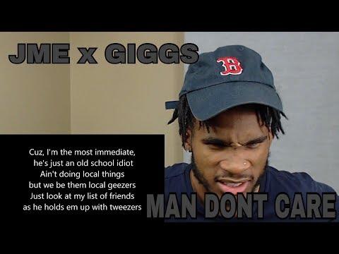 JME FT GIGGS - MAN DON'T CARE | REACTION VIDEO