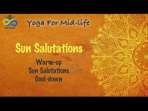 Surya Namaskar   Sun Salutation Routine with warmup   Sun salutation yoga for beginners