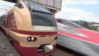 秋田新幹線E6系こまちがE653系国鉄色を追い抜きした日  Akita shinkansen & Extra trains