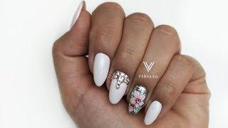 Сама нежность на ногтях. Цветы. Дизайн ногтей 53