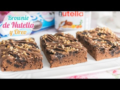 Brownie de Nutella y Oreo | Quiero Cupcakes!