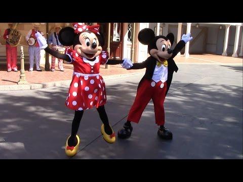 Mickey & Minnie Dance Disneyland at Town Square