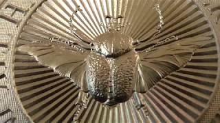 Вся серия в сборе шестой и последний серебряный жук Жук Голиаф вес 2 унции622гр. проба 999.