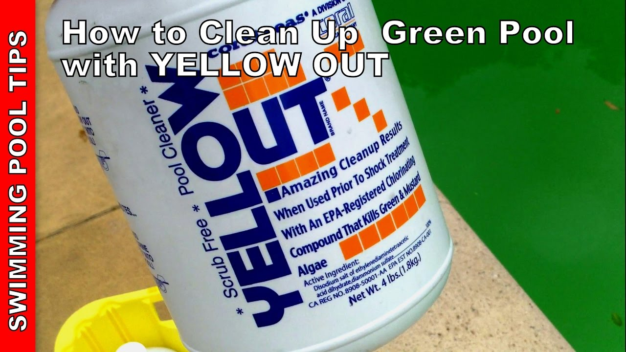 How To Clean A Green Pool Updated Version Using Yellow