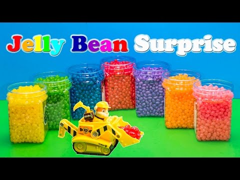 Thumbnail: JELLY BEAN SURPRISE Nickelodeon Funny Paw Patrol Disney Frozen Elsa Toys Kinder Surprise Eggs Video