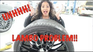 Flat Tire on My Lamborghini SV Roadster:  WHY IS THIS SO HARD TO FIX?