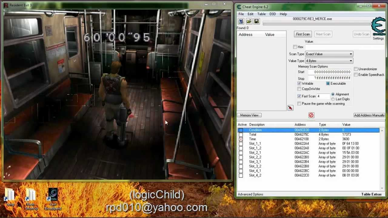Resident Evil 3 Mercenaries Pc Cheat Engine Youtube