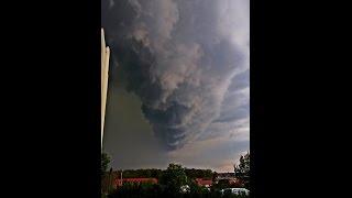 F3 Tornado macht Bützow einfach  platt  05.05.2015