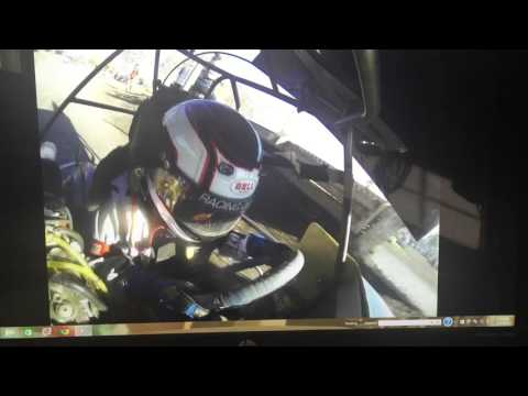 Cycleland Speedway Outlaw Kart Showcase 250 Fast Qualifier in car go pro 24P Tanner Pettit