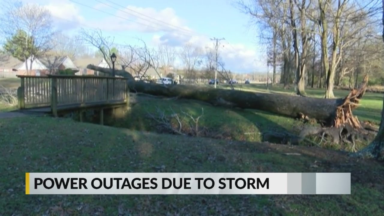 Power outages due to storm