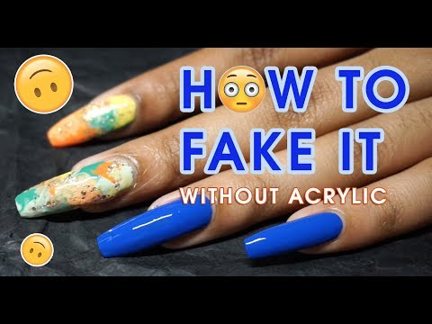 I Have Fake Nails?? 🤷🏽‍♀️ How To Quickly Fake a Nail, on a Budget 😏💸+ NO ACRYLIC