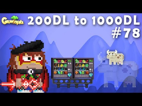 HARVESTING TONS COW TREE | 200DL to 1000DL #78 | Growtopia
