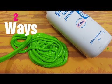 Ways Baby Powder Slime Recipes How To Make Slime With Baby Powder No Glue Must