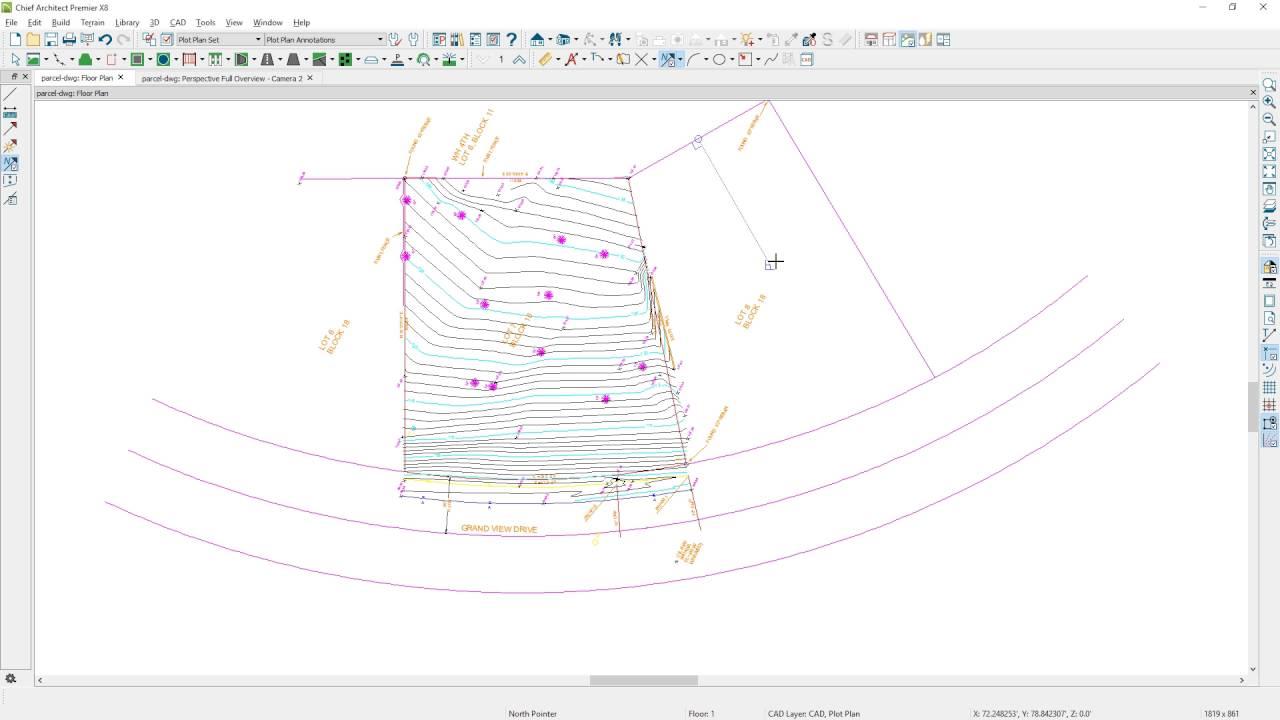 Import a surveyor dwg file for a site plan or terrain for Plan terrain
