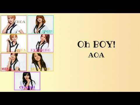 ►LYRICS ROMAJI◄ AOA - Oh BOY !
