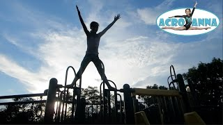 Annie's Gymnastics Freestyle   Tumbling at the Park   Acroanna