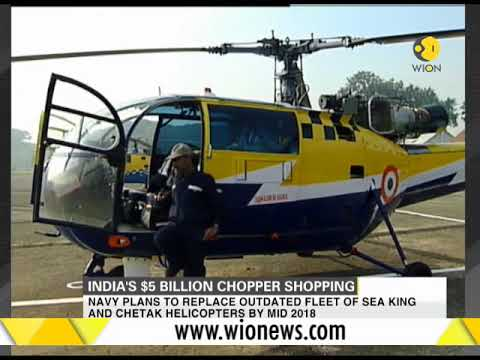 Indian Navy plans to float tenders for over 200 naval helicopters