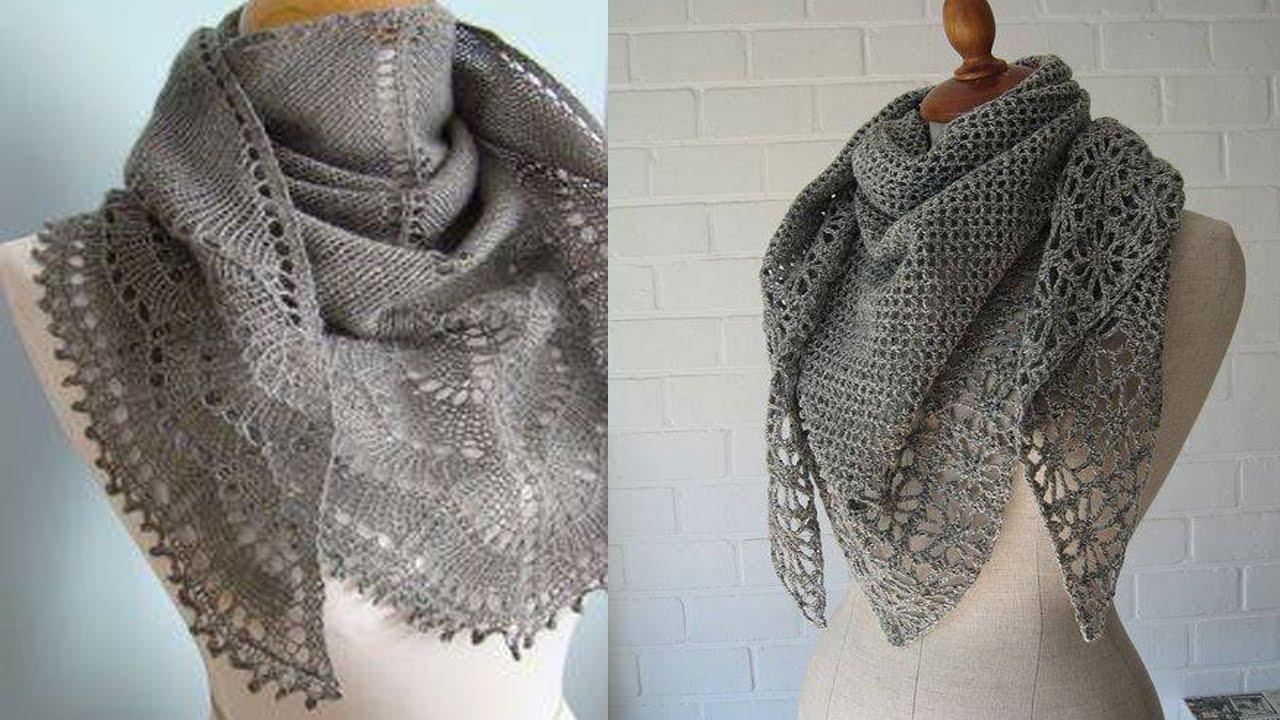 Chal Para Mujer tejidos a Crochet - Diseño Ganchillo - YouTube