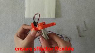 flsun kossel delta 3d printer assembly video step 1 assemble the hot end and pulley