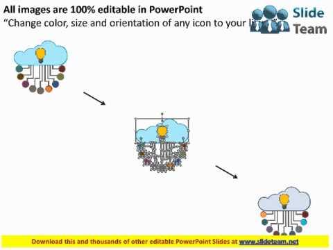 cloud computing idea generation business icons flat powerpoint design
