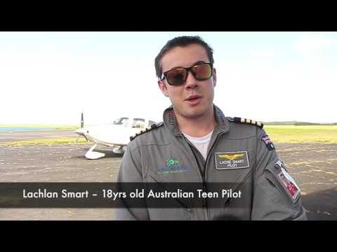 Lachlan Smart, 18yr old Teen Pilot arrive in American Samoa – in his journey for a World Record