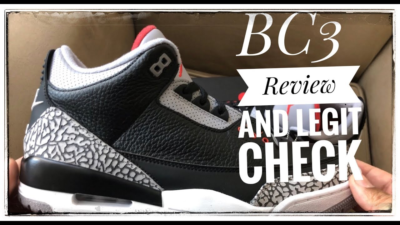 2018 JORDAN 3 Black Cement 3 review and legit check - YouTube d39e813c1