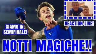 [REACTION LIVE] ITALIA-GERMANIA 1-0| SIAMO IN SEMIFINALE!!!!