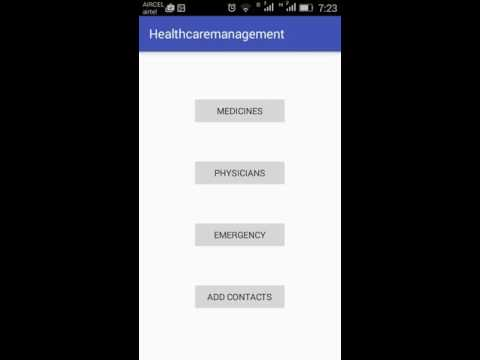 Emergency Alarm And Health Care Management System Android Project
