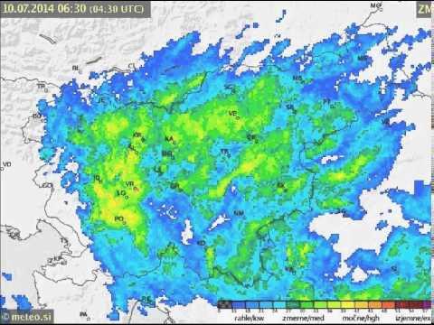 Radarska slika padavin