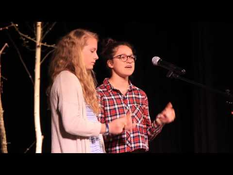 Lily Sullivan and Elsa Eckhardt Sing in Chapel