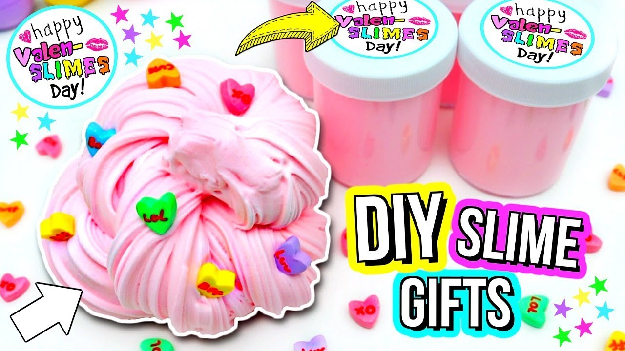 Diy Slime Gifts How To Make Cute Slime Gifts Youtube