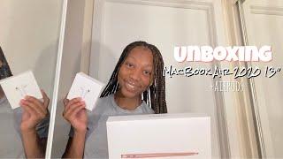 "MacBook Air 2020 13"" unboxing+quick setup w/ accessories"