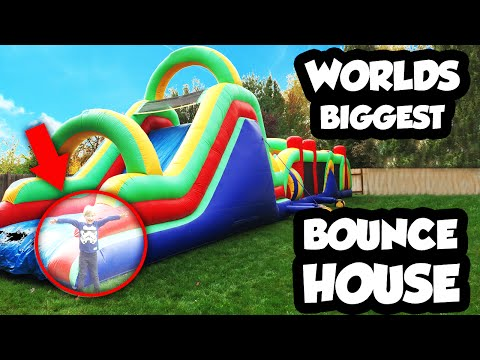 Thumbnail: WORLDS BIGGEST Bounce House Obstacle Course with Giant Slide, Inflatable Bounce House