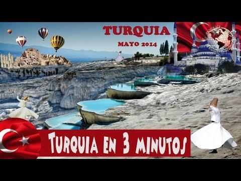 Turismo Turquía en Tres minutos - Turkey Tourism in Three minutes, 2014 Videos De Viajes