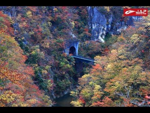 Naruko Gorge เดินทางด้วยรถไฟชมความงามหุบเขาช่วงใบไม้เปลี่ยนสี เมือง Sendai - Miyagi