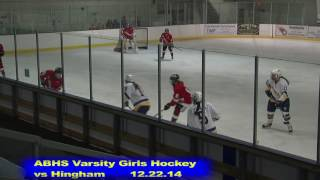 Acton Boxborough Girls Ice Hockey vs Hingham 12/22/14