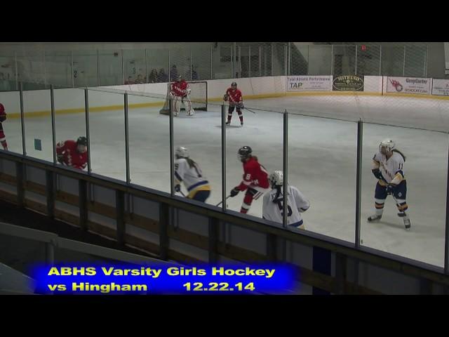 Acton Boxborough Girls Ice Hockey vs Hingham 12/22/14
