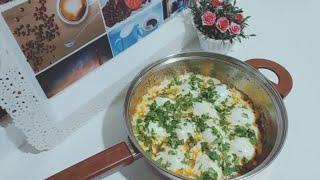 بيض بالجبنه الموزاريلا وجبه فطار او عشا سريعه جدااا